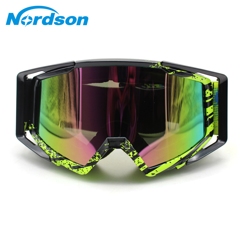 Nordson Motorcycle Goggles Motorcycle Moto Glasses ATV Ski Sport MX Off Road Helmet Cycling Racing Goggles new uv400 lens outdoor cycling sport motorcycle sediment control safety ski goggles glasses