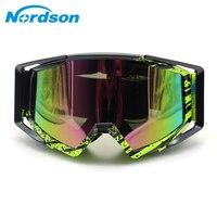 Nordson motosiklet gözlüğü Motosiklet Moto Gözlük ATV Kayak Spor MX Off Road Kask Bisiklet Yarış Gözlükleri