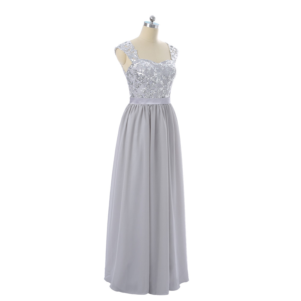 Online shop silver 2017 cheap bridesmaid dresses under 50 a line online shop silver 2017 cheap bridesmaid dresses under 50 a line cap sleeves chiffon sequins see through long wedding party dresses aliexpress mobile ombrellifo Gallery