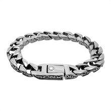 Nuevo llega joyería clásica pulsera de plata para los hombres pareja regalo MBL12