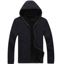 Mountainskin 7XL Winter Men's Jackets Thick Fleece Hooded Hoodies Men Sweatshirt Solid Casual Male Coats Brand Clothing SA116