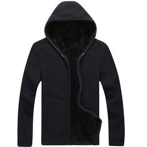 Image 3 - Mountainskin 7XL Winter Mens Jackets Thick Fleece Hooded Hoodies Men Sweatshirt Solid Casual Male Coats Brand Clothing SA116