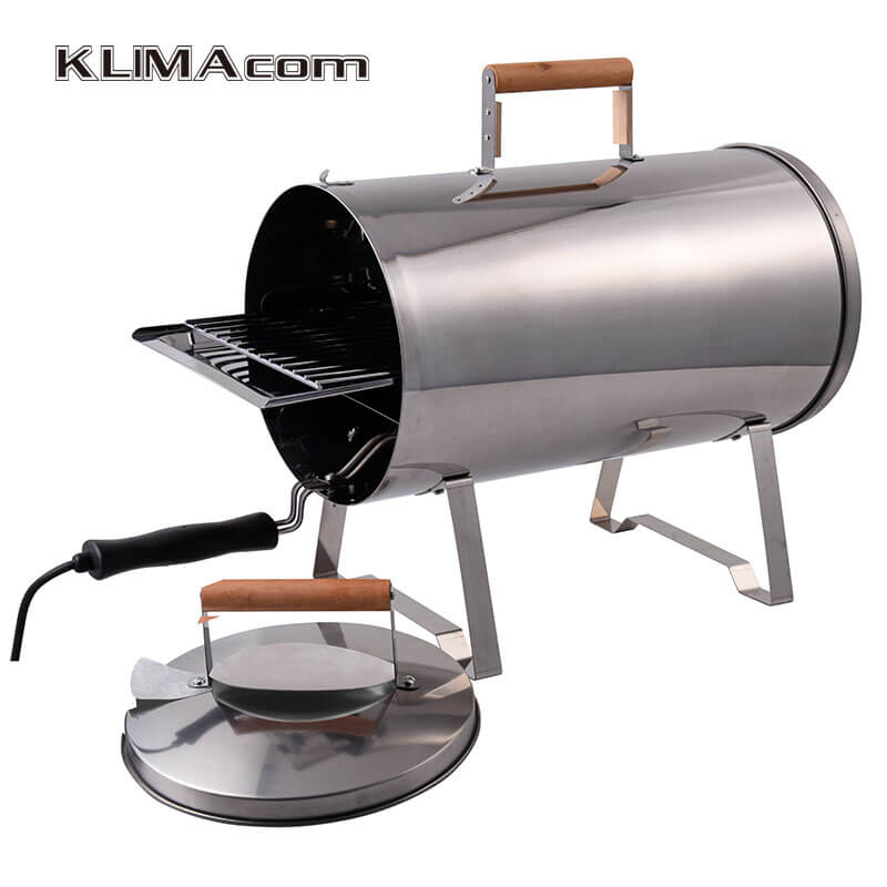 Electric Portable Barbecue Grill For Outdoor Pipe/Cylinder Smokers For Home  BBQ Cooking Appliance Hot Smoking 1100W In Electric Grills U0026 Electric  Griddles ...