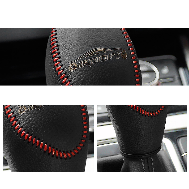 Lsrtw2017 Genuine Leather Car Gear Lever Cover Trims for Geely Boyue Emgrand Gs 2016 2017 2018 2019 2020 in Interior Mouldings from Automobiles Motorcycles