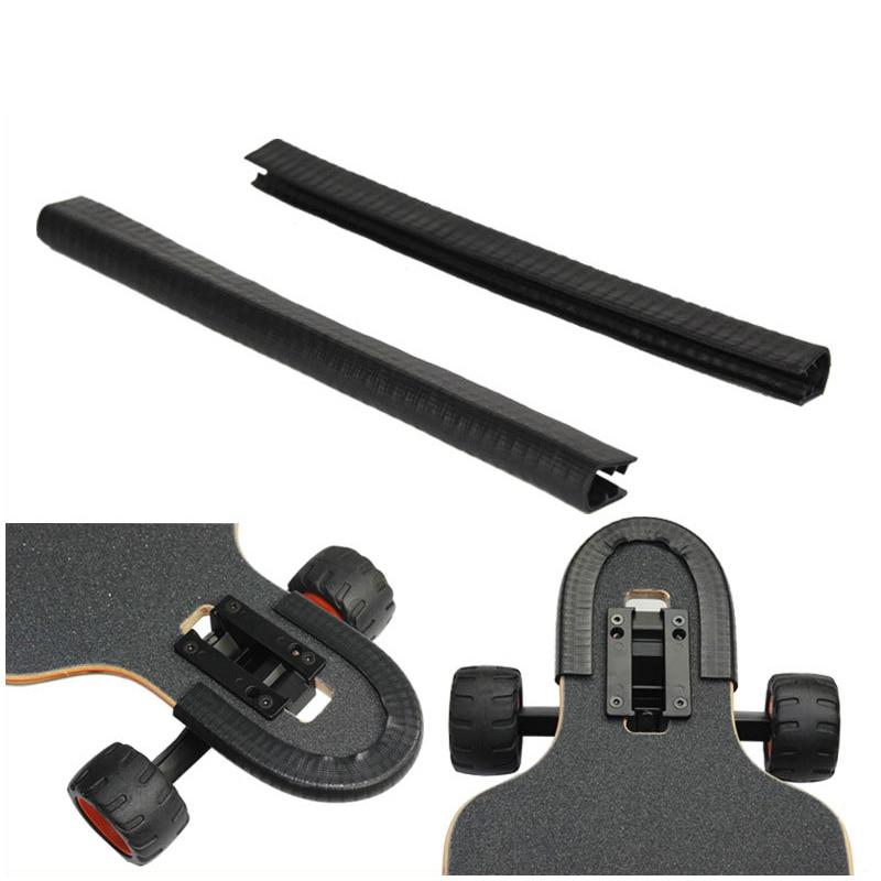 2 stks Elektrische Skateboard Bumper Crash Strip 4 Wielen Skateboard Beschermende Bumpers Accessoires Voor Skateboards