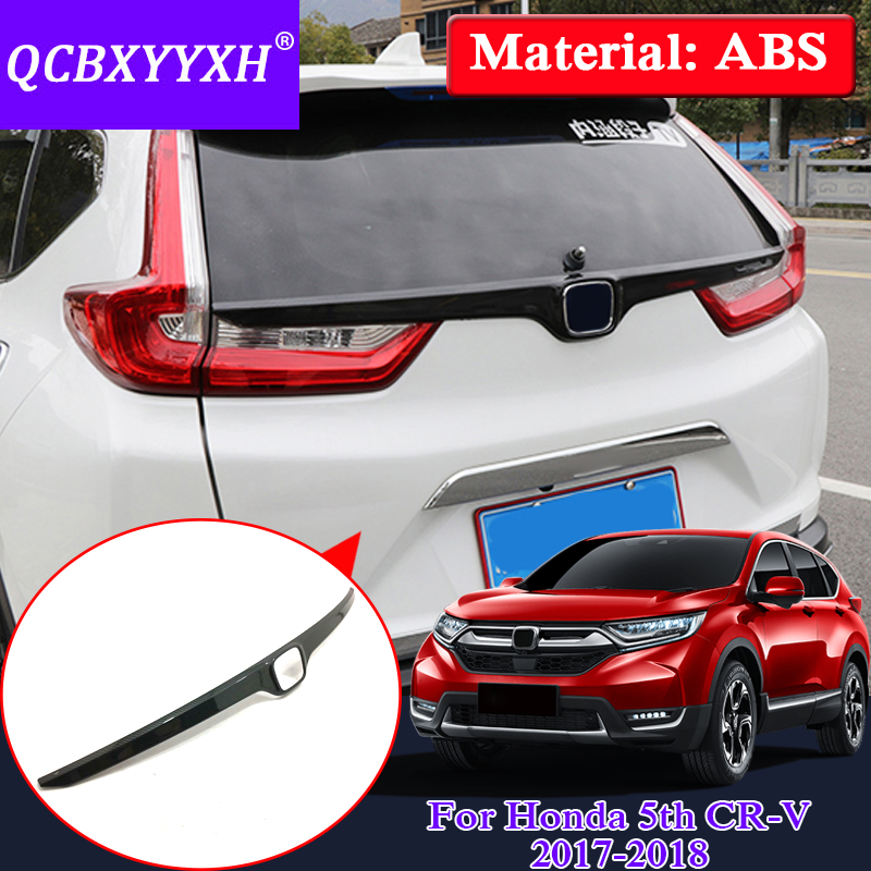 QCBXYYXH Car Styling ABS Car Trunk Trims Sequins External Decoration Frame For Honda 5th CR-V 2017 2018 Auto Cover Accesories qcbxyyxh abs car styling for nissan terra navara np300 2018 2019 car navigation frame sequins internal decoration cover