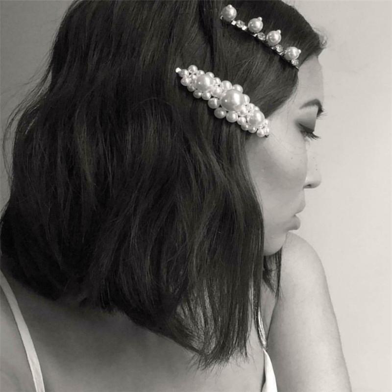 50pcs//set Black Fashion U Shape Hairpins Curly Wavy Barrette Hairpin Bobby Pins