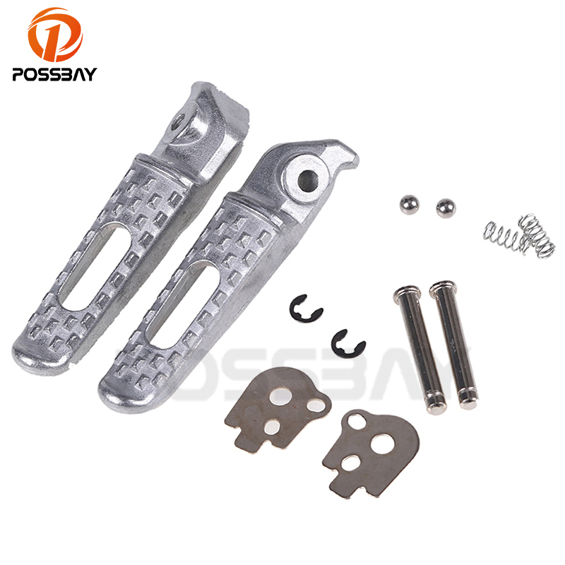 POSSBAY Universal Motorcycle Rider Rear CNC Footrests Foot Pegs Pedals For Honda CBR 600 900 RR CB 400 600 Footrests