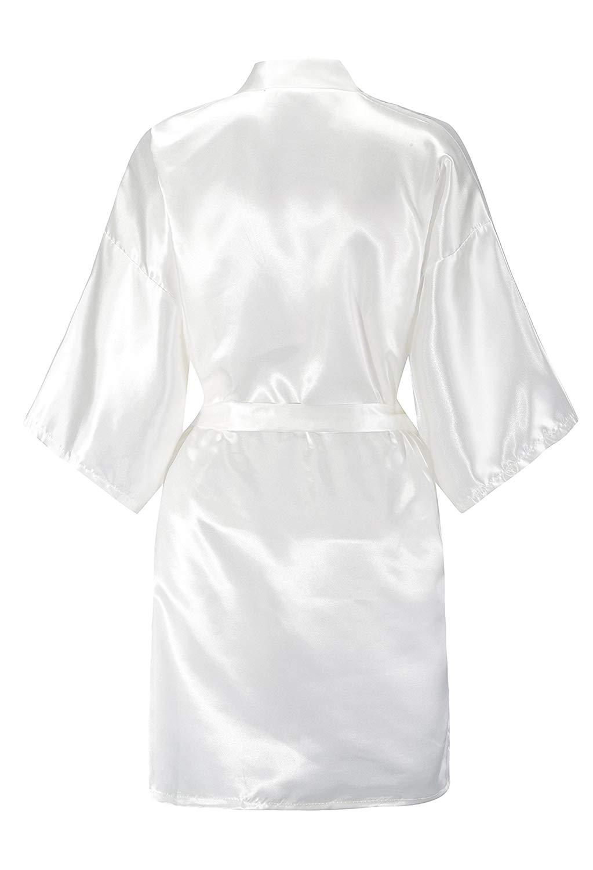 YUXINBRIDAL 2019 New Hot Pink Gown Satin Silk Bride Robe Wedding Robe Bride Bridesmaid Dressing Gown Bridesmaid White Robes in Robes from Underwear Sleepwears
