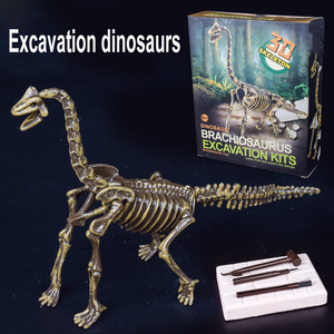 Image 4 - Kits de excavación de dinosaurios de Jurassic para niños, conjunto de juguete educativo de arqueología, regalo educativo, figura de acción, BabyA9BC00