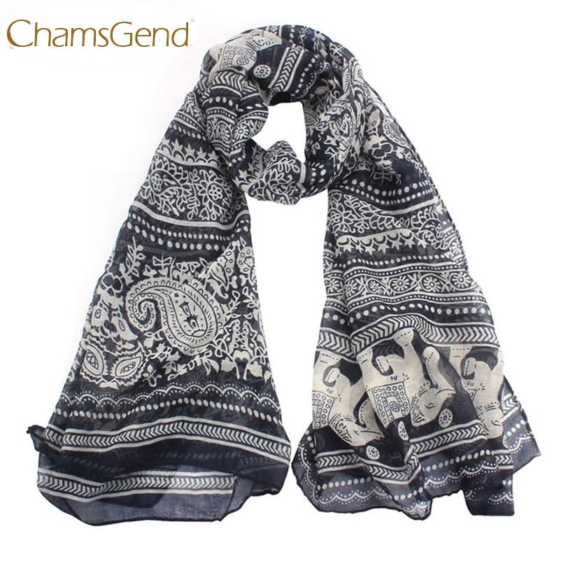 fbf45fbbf1e45 Chamsgend Newly Design Boho Elephant Printed Women Long Scarf Wrap Shawls  Drop Shipping