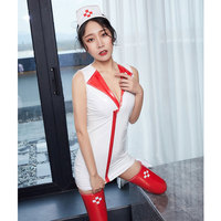 Cosplay MINI Dress PU Faux Leather Shiny Sexy Nurse Uniforms Role Playing Outfits Erotic Lingerie Sexy Costumes Halloween Suits