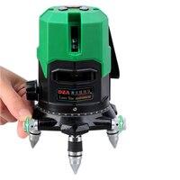 5 Line 1 Point Green Laser Level 360 Degree Rotary Cross Laser Line Level Tilt Mode
