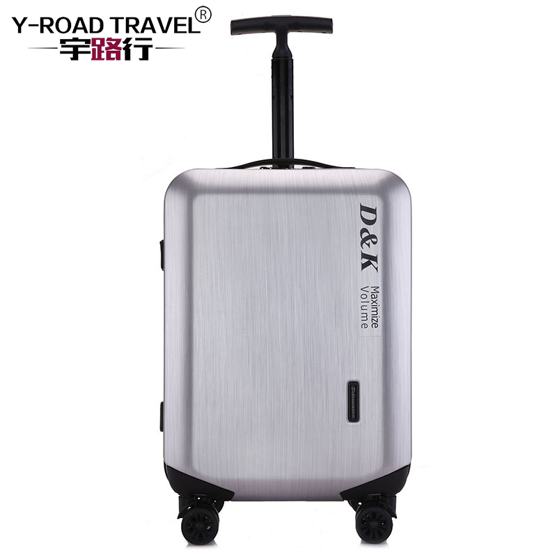 20'24'28' Zipper Luggage, PC Shell & Metal Drawbar Rolling Luggage Bag Trolley Case Travel Suitcase Wheels Free Shipping free shipping k5 metal shell