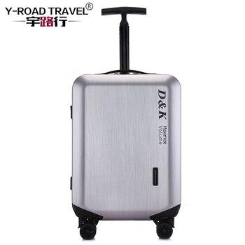 4560efb36 20'24'28' cremallera equipaje cáscara PC y Metal remolque equipaje rodante  carro bolsa caso maleta de viaje de ruedas envío gratis