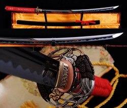 Wysokiej jakości 1095 stal węglowa japoński samuraj MARU miecz KATANA steel bulb swords samuraisword cover -