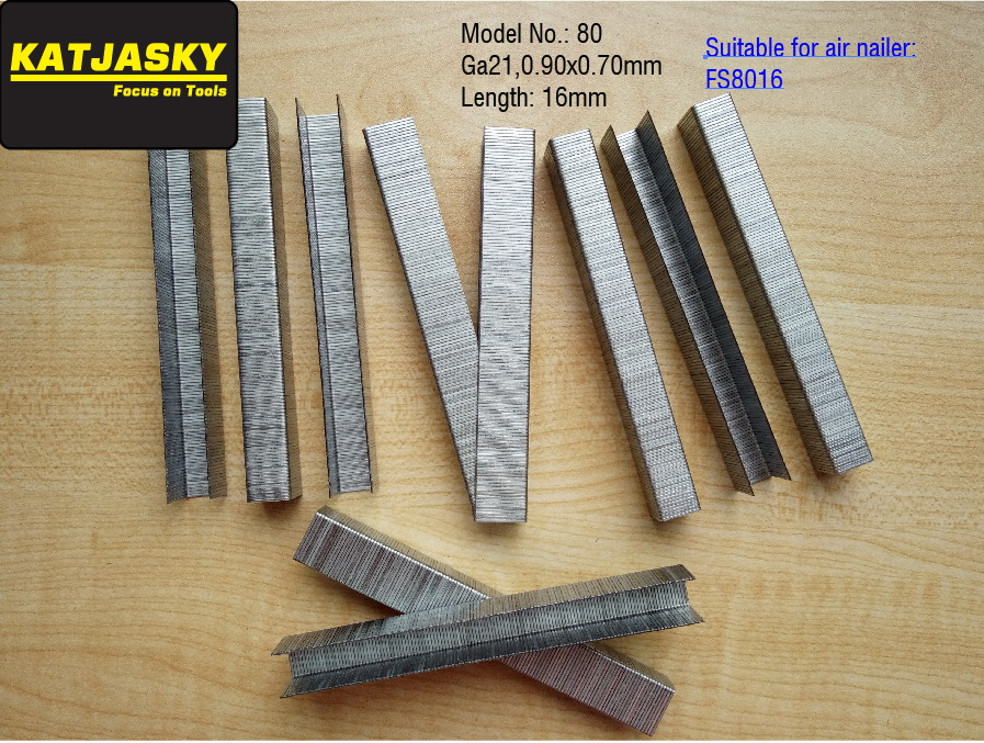 16mm Staples Crwon Nails For FS8016 Air Stapler Pneumatic Nailer Stapler,crown Nail,  U Nails, 2500pcs/lot