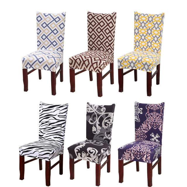 Universal Stretch Dining Chair Covers Elastic Kitchen Chair Case