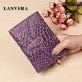 LANVERA Genuine Leather Women Wallets Folding 2016   Brand Women's Purse Short   Female Purse For Coins   Ladies Card Holder