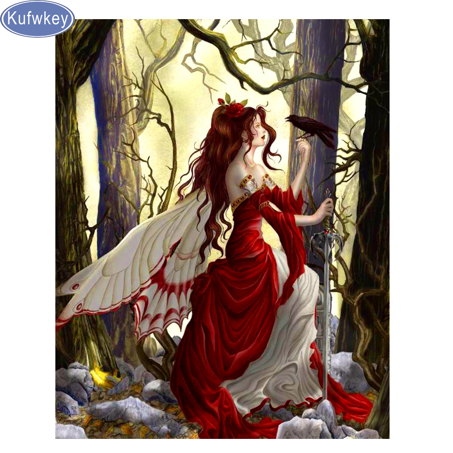 Fairy DIY 5D Diamond Painting Beauty Girl Art Drill Cross Stitch Kit Home Decor