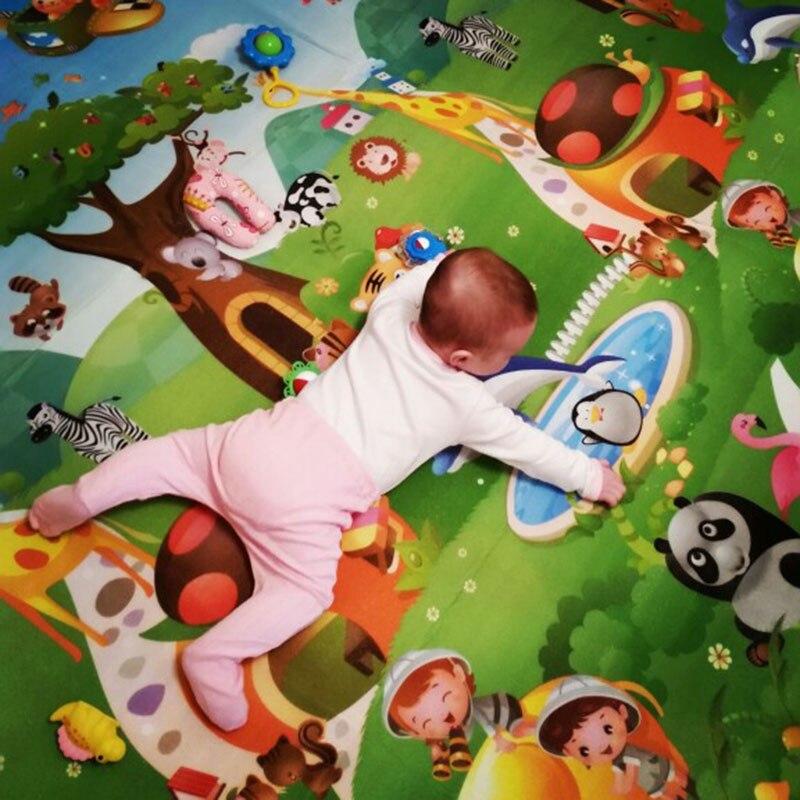 HTB11VwZbA5E3KVjSZFCq6zuzXXav 0.5cm Double-Side Baby Crawling Play Mat Dinosaur Puzzle Game Gym Soft Floor Eva Foam Children Carpet for Babies KidsToys