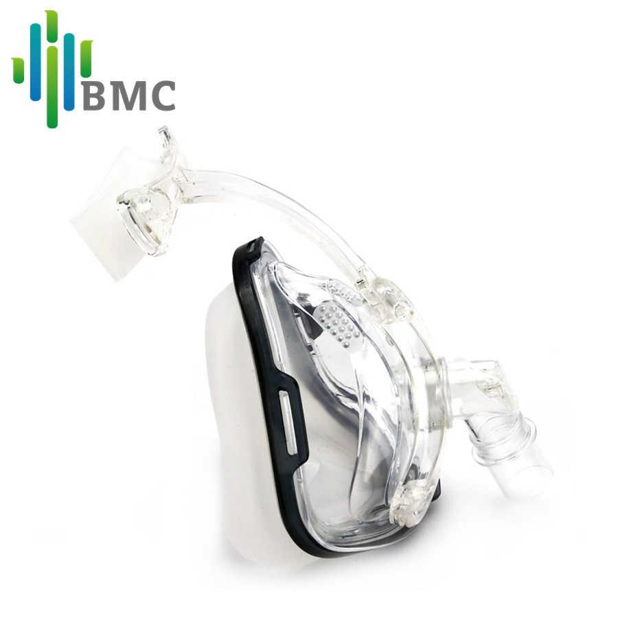 BMC FM1 Tam Yüz Maskesi Horlama Için Geçerlidir Tıbbi CPAP BiPAP Silikon jel malzeme Boyutu S/M/L başlık ile Klip Ücretsiz Kargo