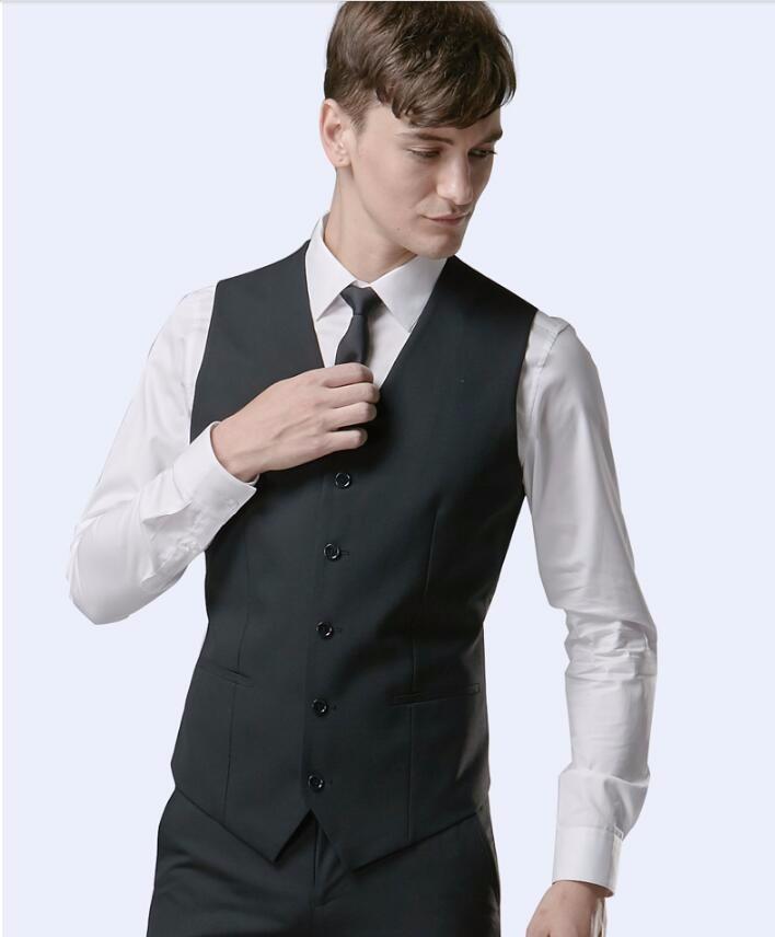 39d169a09a7581 fashion style men waistcoat handsome formal business suit vest groom ...