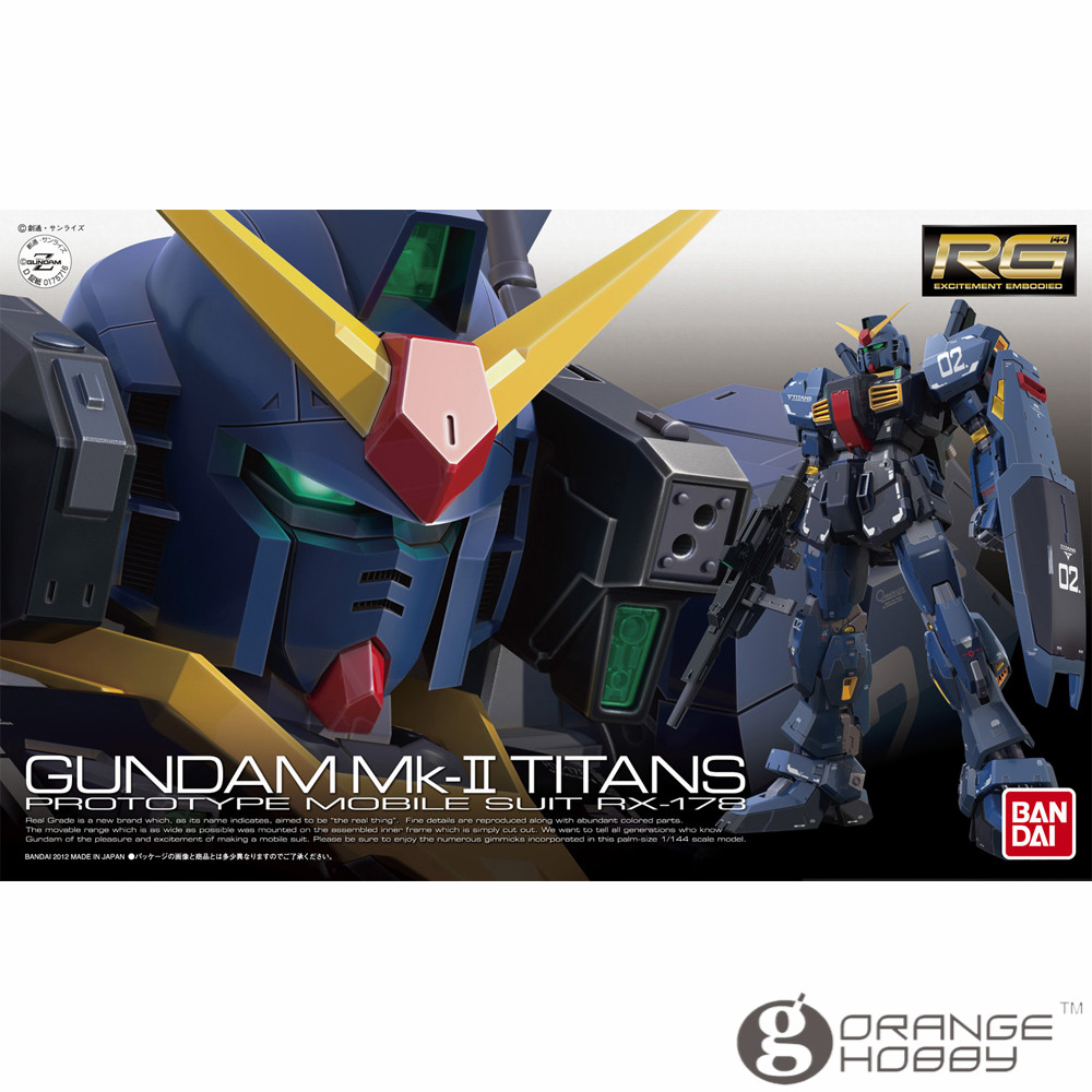 OHS Bandai RG 07 1/144 RX-178 Gundam Mk-II Titans Mobile Suit Assembly Model Kits abs chrome front grille around trim racing grills trim for 2013 hyundai santa fe ix45