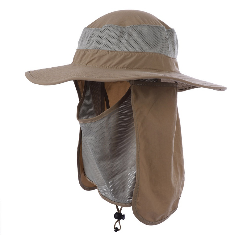 Outdoor Flap Caps 360 Degree Sunshade UV Protection Face Mask Ear Neck Cover