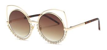Hot 2018 Fashion Sunglasses Women Luxury Brand Designer Vintage Sun glasses Female Rivet Shades Big Frame Style Eyewear 364M 4