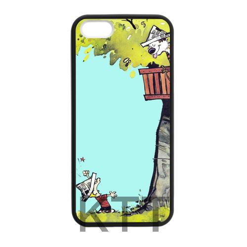 Colorful Calvin e Hobbes Sotto L'albero Tpu Nero cell phone bags case cover for 4S 5C 5S SE 6S 7 Plus IPOD Samsung IPOD Touch 4