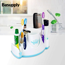 Basupply 1 Pcs Multifunctional Toothbrush Holder Squeeze Toothpaste Shaver Holder Cup Kitchen Bathroom Accessories Dropshipping
