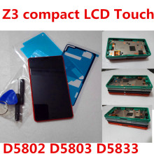 цена на 4.6 LCD For SONY Xperia Z3 Compact Display Touch Screen with Frame Z3 Mini D5803 D5833 For SONY Xperia Z3 compact LCD