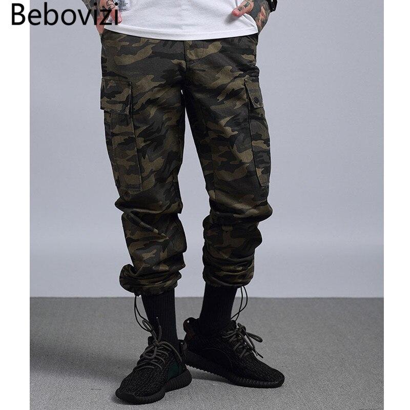 Streetwear Vrac Hip Décontractés Bebovizi poches Camouflage Joggeurs Pantalon Rétro En Pieds Militaire Noir camo Hop Pantalons Multi Mâle Nouveautés qtZpf