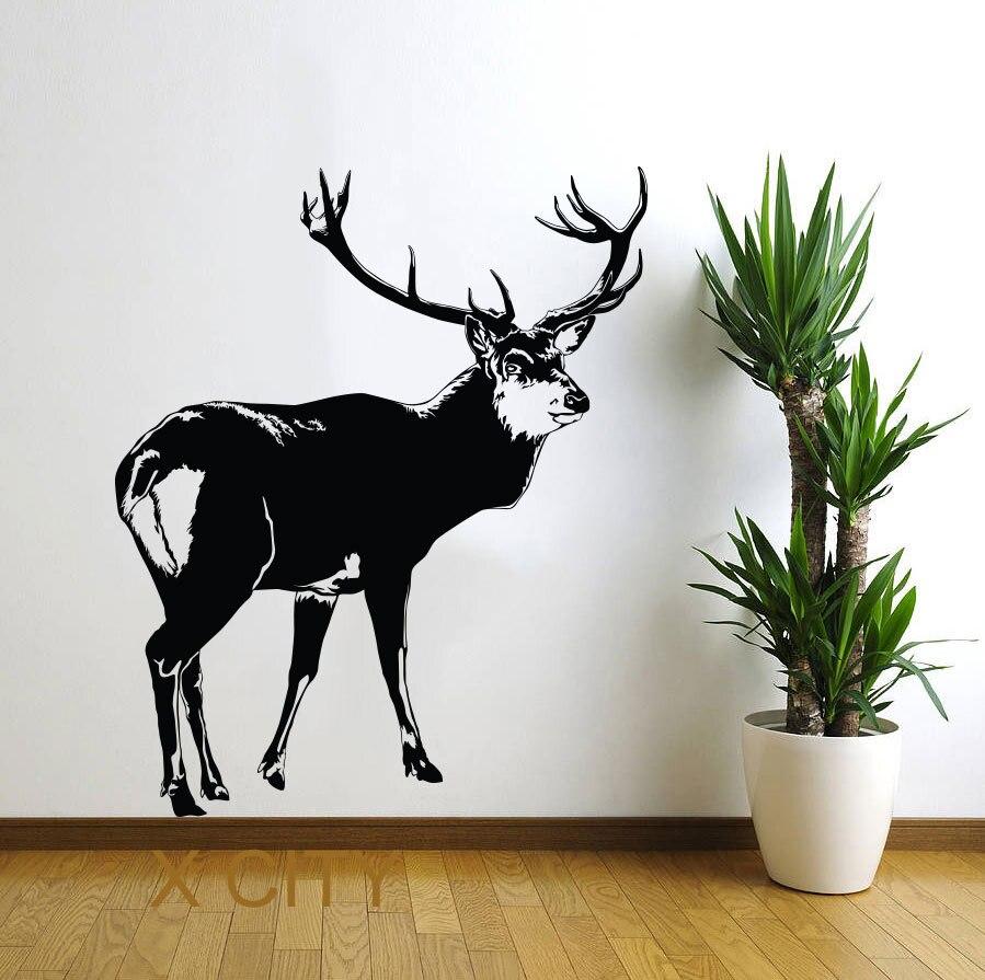popular deer wall stencils buy cheap deer wall stencils lots from deer north tundra animal wall art vinyl sticker decal nursery decor living room home interior mural
