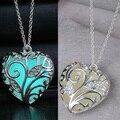 Сердце ожерелье Подвески Светятся в Темноте Подарки мода Светящиеся Ожерелье для женщин Ювелирные Изделия оптовая груза падения