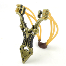 hot deal buy supper strong high density alloy slingshot outdoor hunting hunter catapult free shipping