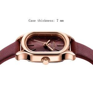 Image 3 - 줄리어스 레이디 레트로 스퀘어 가죽 여성 시계 캐주얼 스몰 다이얼 쿼츠 손목 시계 여성 드레스 몬트 펨 시계 선물