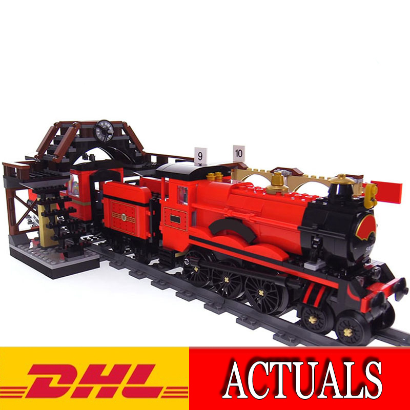 DHL Lepin 16055 897Pcs Harry M Potter Hogwarts Express Train Model Building Kits Blocks Bricks Educational Kid Toy Gift 75955