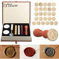 KiWarm New Lauched Romantic Gift A Z 26 Alphabets Letters Sealing Wax Stamp Set 1 Wax