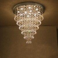 ZYY Лучшая цена Новинка 2017 года cristal лампы Хит продаж натуральная нержавеющая сталь k9 кристалл потолочные для гостиной