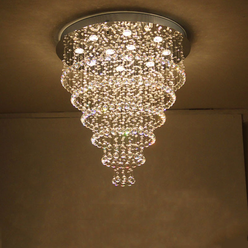 ZYY Best Price 2017 New cristal lamp Hot selling genuine stainless steel k9 crystal ceiling lights for living room