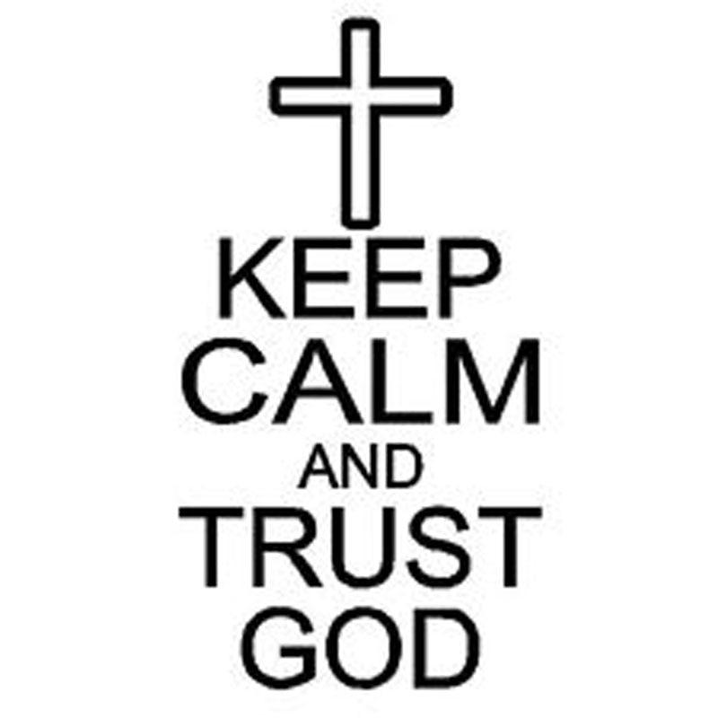 8.5CM*15CM Keep Calm And Trust God Jesus Religion Cross Car Decal Vinyl Sticker Car Styling Accessories C8-0086 geely mk cross mk cross car wheel sticker car accessories
