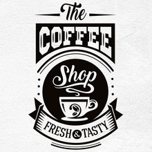 Restaurant coffee shop vinyl sticker kitchen restaurant decorative wall stickers customizable slogans CF26