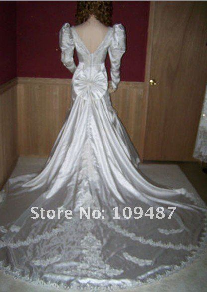 Vintage 80's, 90's Satin Mermaid Style Wedding