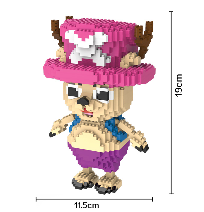 HC Magic Blocks One Piece Mini Blocks Chopper Micro blocks Cartoon DIY Building Toys Juguetes Auction Model TOY Kids Gifts 9017 hc big size super mario micro blocks stitch micro blocks diy building toys cute cartoon juguetes auction figures kids gifts 9003