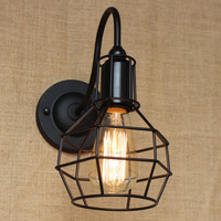 Loft American vintage wall lamp indoor lighting bedside lamps industrial wall lights for home 110V/220V E27