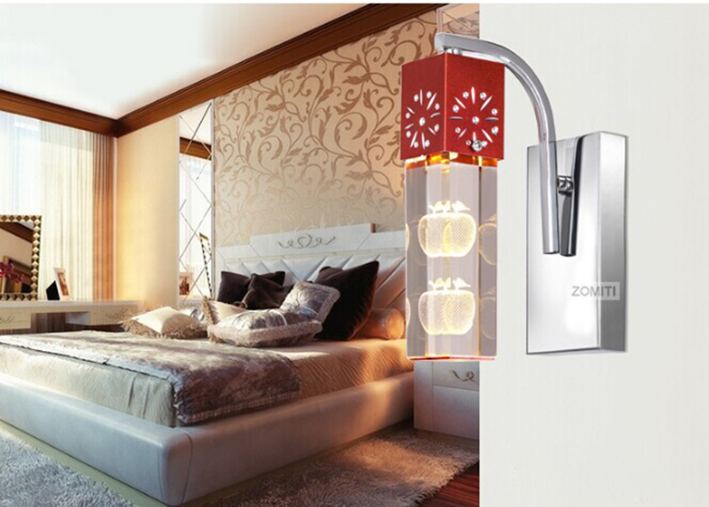 Modern Minimalist Nordic LED Wall Lamps Creative Bedroom Bedside Reading Light Living Room Lighting Rustic Indoor Wall Sconces vemma acrylic minimalist modern led ceiling lamps kitchen bathroom bedroom balcony corridor lamp lighting study