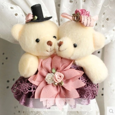 2pieces lot classic elegant cute teddy bear cartoon art curtain