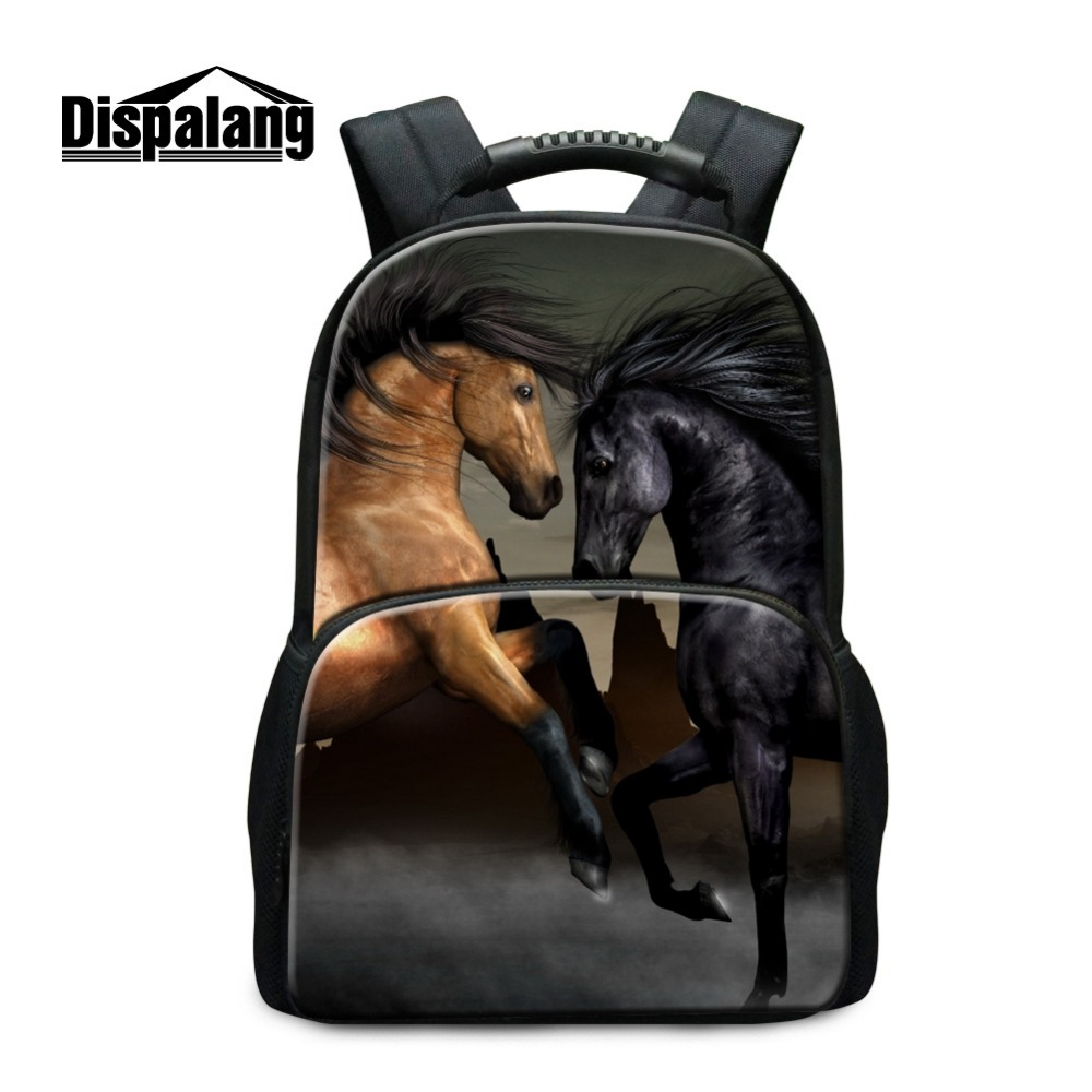 ФОТО Dispalang Horse School Backpacks for Teen Girls Animal Large Bookbags for Boys College Students Casual Mochilas Child Back Pack